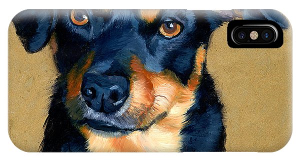 Miniature Pinscher Dog Painting IPhone Case