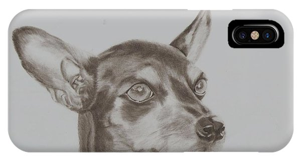 miniature pinscher Tronter IPhone Case