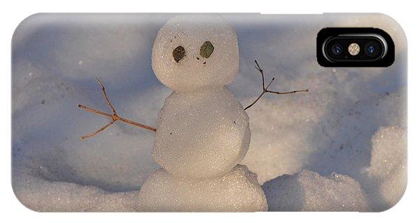 Miniature Snowman Landscape Phone Case by Nancy Landry