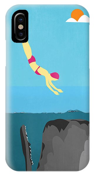 Whales iPhone Case - Minimal Sea Life  by Mark Ashkenazi
