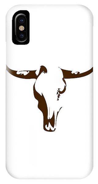 Southwest iPhone Case - Minimalist Bull Skull Poster by Celestial Images