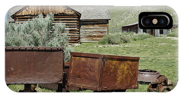 Mining Rail Cars Bannack Montana IPhone Case