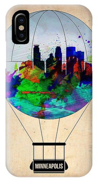 Minnesota iPhone Case - Minneapolis Air Balloon by Naxart Studio
