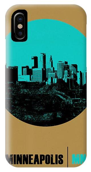 Minnesota iPhone Case - Minneapolis Circle Poster 1 by Naxart Studio