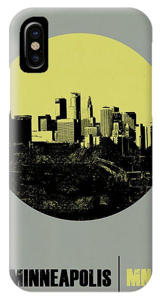 Minnesota iPhone Case - Minneapolis Circle Poster 2 by Naxart Studio