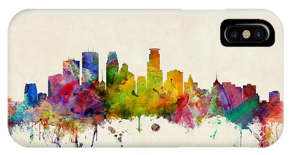 City Scenes iPhone Case - Minneapolis Minnesota Skyline by Michael Tompsett