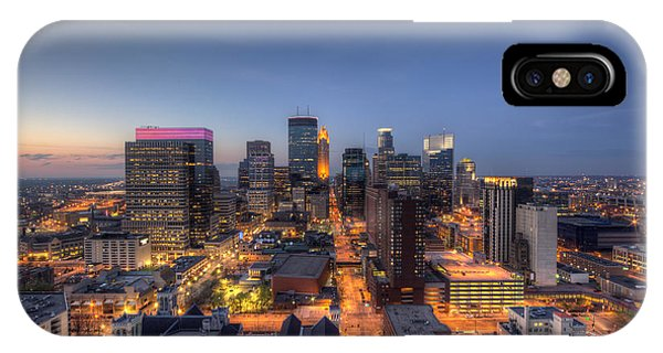 Minneapolis Skyline At Night IPhone Case