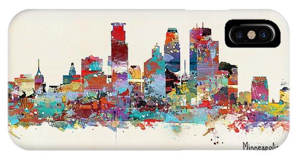Minnesota iPhone Case - Minneapolis Skyline by Bri Buckley