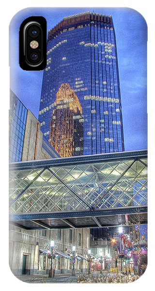 Minneapolis Skyline Photography Nicollet Mall Winter Evening IPhone Case