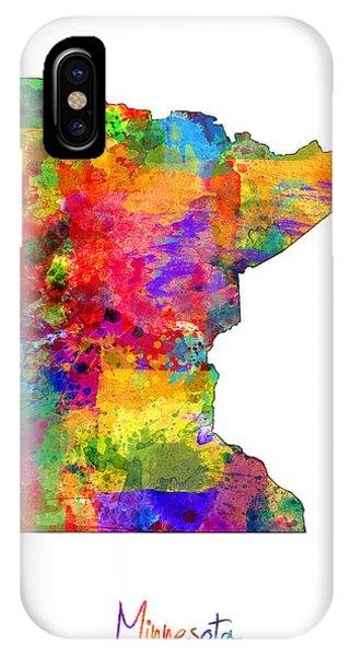 Minnesota iPhone Case - Minnesota Map by Michael Tompsett