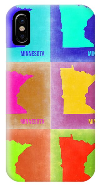 Minnesota iPhone Case - Minnesota Pop Art Map 2 by Naxart Studio