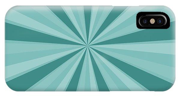 Mint Teal Sun Burst IPhone Case
