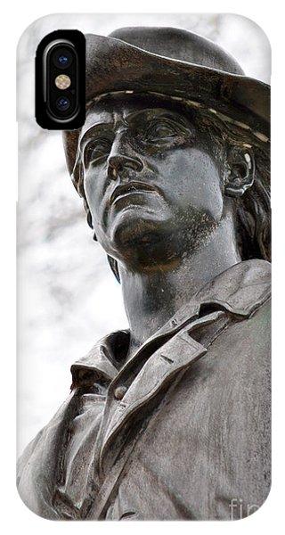 Minute Man Statue 3 IPhone Case