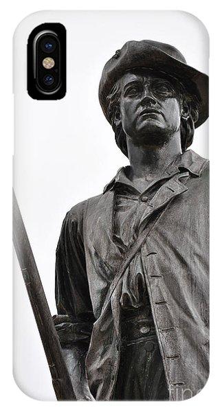 Minute Man Statue Concord Massachusetts IPhone Case