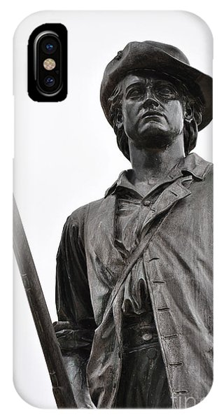 Minute Man Statue Concord Massachusetts IPhone Case