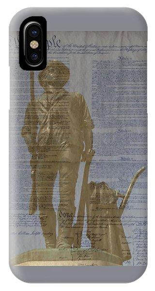 Minuteman Constitution IPhone Case
