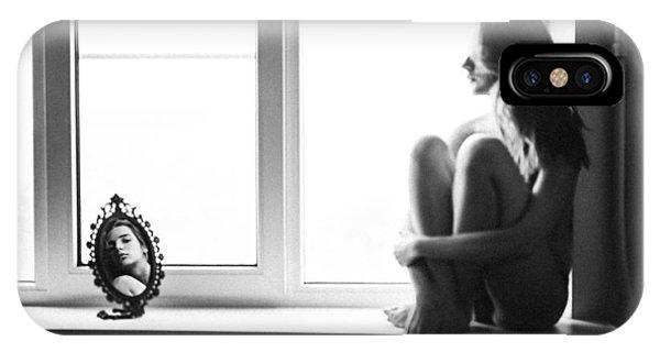Grain iPhone Case - Mirror by Borislav Kornienko