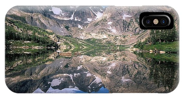 Indian Peaks Wilderness iPhone Case - Mirror Image by Eric Glaser