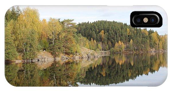 Mirror Image Of The Fall Season IPhone Case