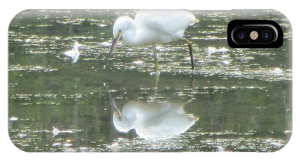 Mirror Image Of The Snowy Egret Phone Case by Debbie Nester