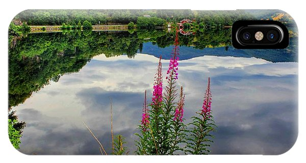 Mirror Lake Bjorheimsvatnet In Rogaland  IPhone Case