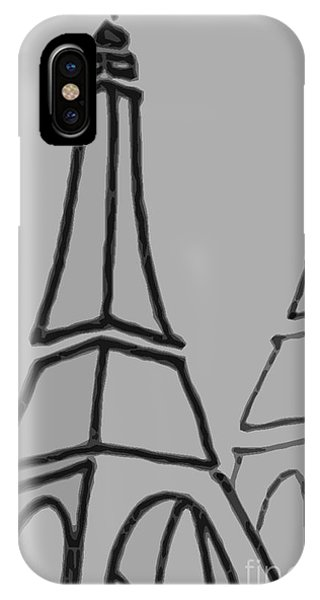 Mirrored Eiffel Tower IPhone Case