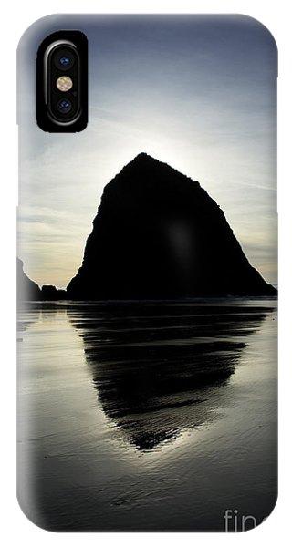 Mirrored Haystack Rock IPhone Case
