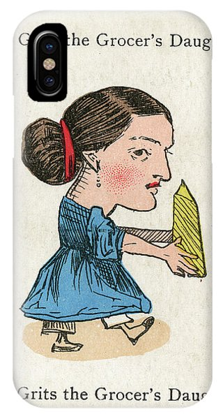 Miss Grits The Grocer's  Daughter Phone Case by Mary Evans Picture Library