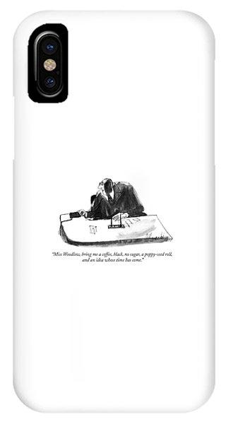 Miss Woodlow IPhone Case