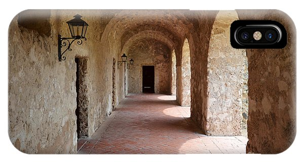 Mission Concepcion Promenade Walkway In San Antonio Missions National Historical Park Texas IPhone Case