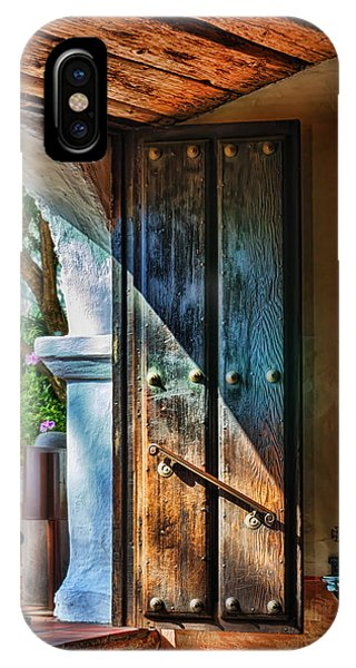 Adobe iPhone Case - Mission Door by Joan Carroll