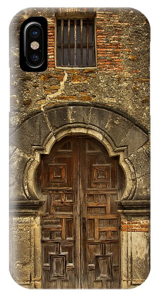 IPhone Case featuring the photograph Mission Espada Doorway by Jemmy Archer