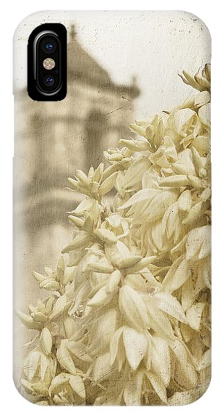 Mission San Jose And Blooming Yucca IPhone Case