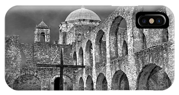 Mission San Jose Arches Bw IPhone Case