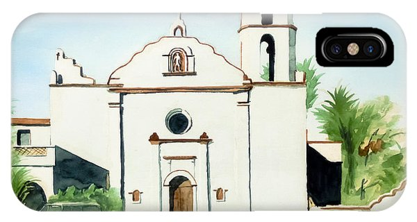Mission San Luis Rey Colorful II IPhone Case