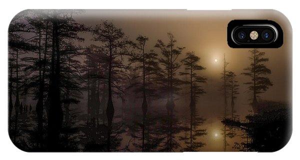 Mississippi Foggy Delta Swamp At Sunrise IPhone Case