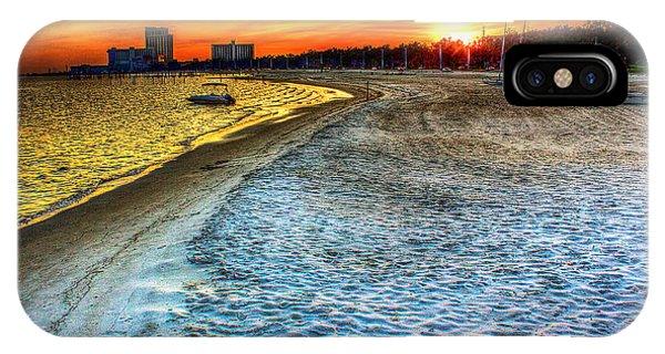 Beach - Coastal - Sunset - Mississippi Gold IPhone Case