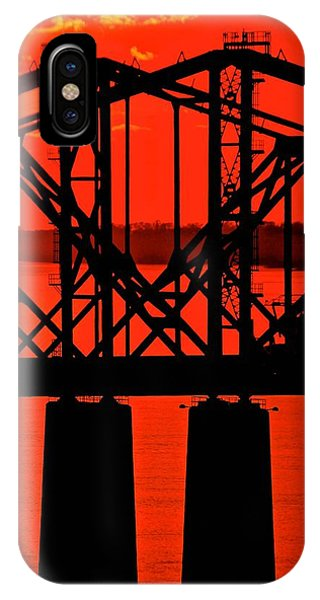 Mississippi River Bridge At Natchez IPhone Case