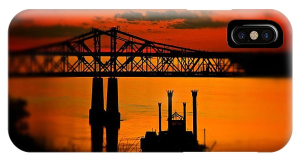Mississippi River Natchez Sunset IPhone Case