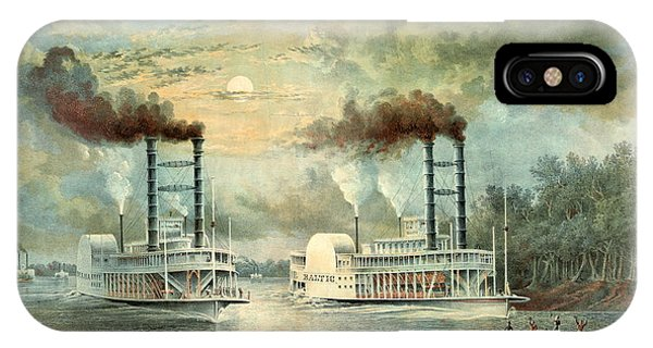 Mississippi Steamboat Race 1859 IPhone Case