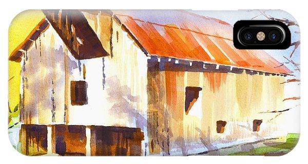 Missouri Barn In Watercolor IPhone Case