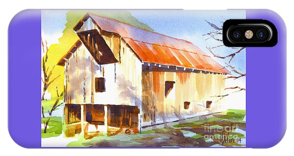 Missouri Barn In Watercolor IPhone Case