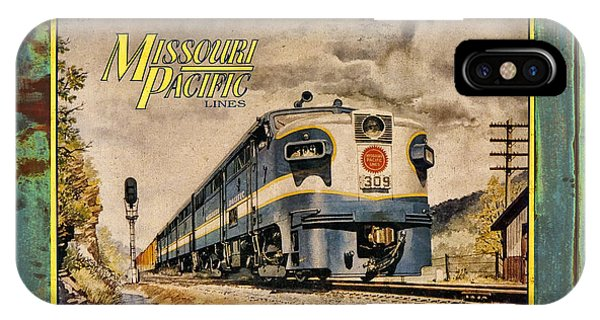 Missouri Pacific Lines Sign Engine 309 Dsc02854 IPhone Case