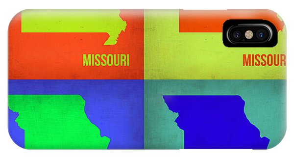 Missouri iPhone Case - Missouri Pop Art Map 1 by Naxart Studio