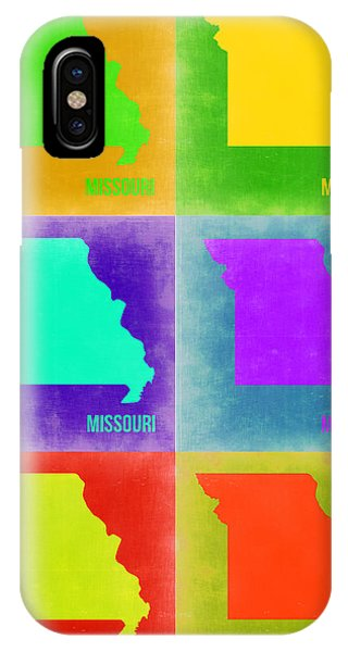 Missouri iPhone Case - Missouri Pop Art Map 2 by Naxart Studio