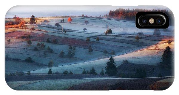 Fir Trees iPhone Case - Mist by Amir Bajrich