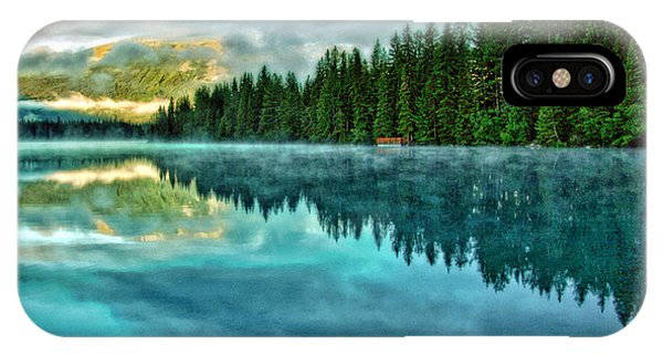 Mist And Moods Of Lake Beauvert  IPhone Case