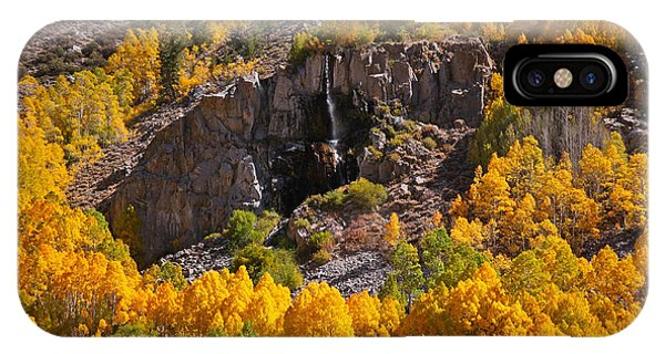Mist Falls And Aspen In Autumn IPhone Case