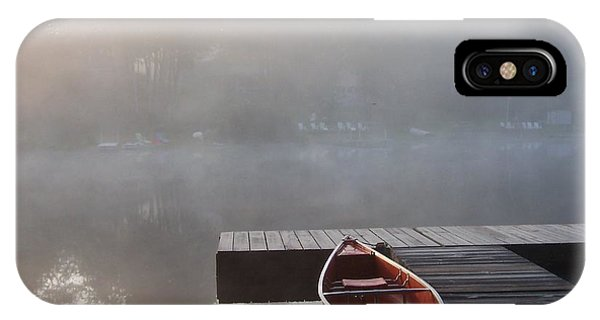 Mist Floating Over The Lake IPhone Case