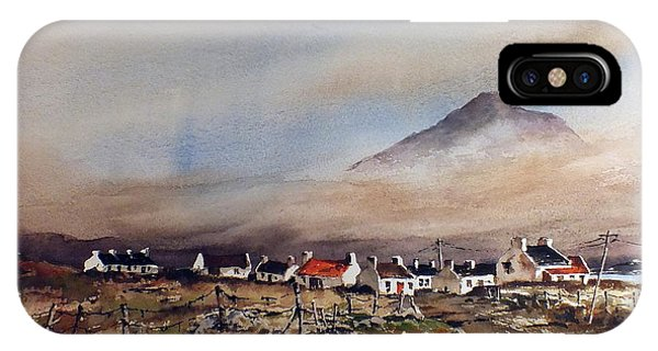 Mist Over Dugort Achill Island Mayo IPhone Case
